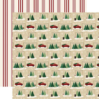 Echo Park - A Cozy Christmas Collection - 12 x 12 Double Sided Paper - Tree Farm
