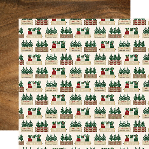 Echo Park - A Cozy Christmas Collection - 12 x 12 Double Sided Paper - Warm Wishes