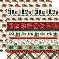 Echo Park - A Cozy Christmas Collection - 12 x 12 Double Sided Paper - Border Strips