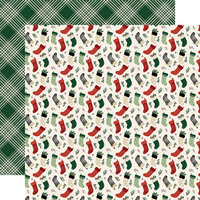 Echo Park - A Cozy Christmas Collection - 12 x 12 Double Sided Paper - Stockings
