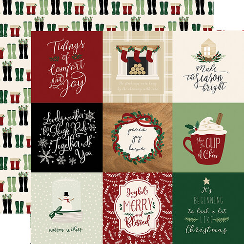 Echo Park - A Cozy Christmas Collection - 12 x 12 Double Sided Paper - 4 x 4 Journaling Cards