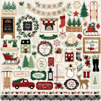 Echo Park - A Cozy Christmas Collection - Cardstock Stickers - Elements