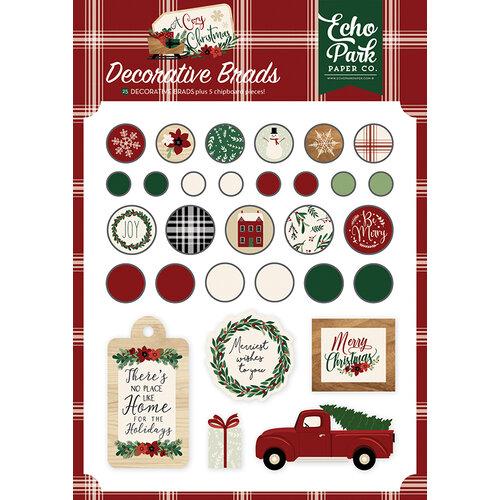 Echo Park - A Cozy Christmas Collection - Decorative Brads