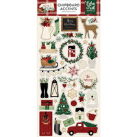 Echo Park - A Cozy Christmas Collection - Chipboard Stickers - Accents