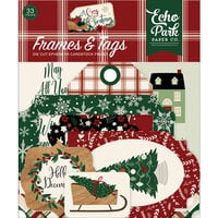 Echo Park - A Cozy Christmas Collection - Ephemera - Frames and Tags