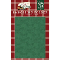 Echo Park - A Cozy Christmas Collection - Embossing Folder - Merry Christmas