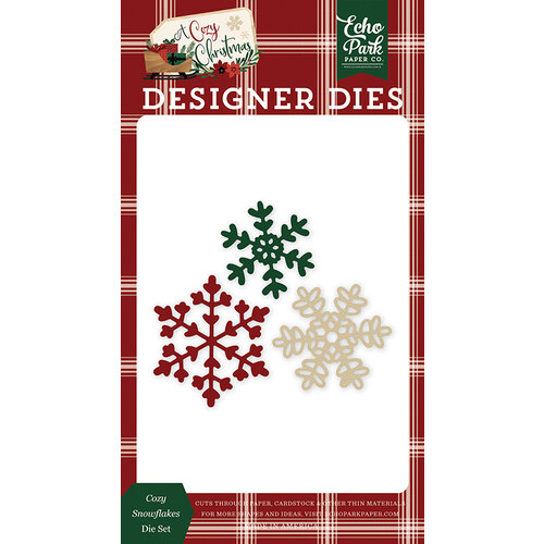 Echo Park - A Cozy Christmas Collection - Designer Dies - Cozy Snowflakes