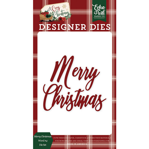Echo Park - A Cozy Christmas Collection - Designer Dies - Merry Christmas Word Set 4