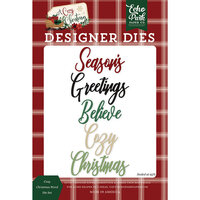 Echo Park - A Cozy Christmas Collection - Designer Dies - Word Set