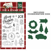 Echo Park - A Cozy Christmas Collection - Designer Die and Clear Photopolymer Stamp Set - Let's Get Cozy