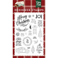 Echo Park - A Cozy Christmas Collection - Clear Photopolymer Stamps Set - Let's Get Cozy