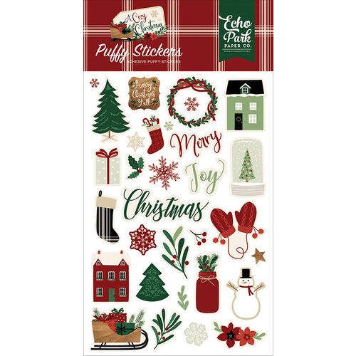Echo Park - A Cozy Christmas Collection - Puffy Stickers