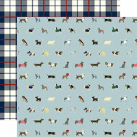 Echo Park - A Dog's Tail Collection - 12 x 12 Double Sided Paper - Ruff Life