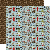 Echo Park - A Dog's Tail Collection - 12 x 12 Double Sided Paper - Puppy Play