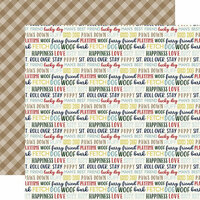 Echo Park - A Dog's Tail Collection - 12 x 12 Double Sided Paper - Woof Words