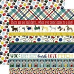 Echo Park - A Dog's Tail Collection - 12 x 12 Double Sided Paper - Border Strips