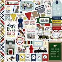Echo Park - A Dog's Tail Collection - 12 x 12 Cardstock Stickers - Elements