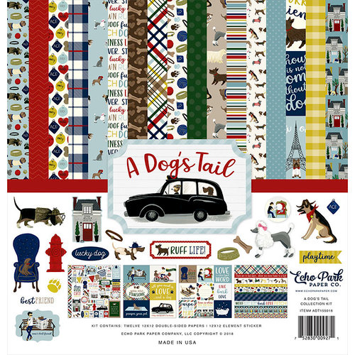 "Echo Park Collection Kit 12/""X12/""-I Love My Dog"