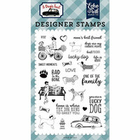 Echo Park - A Dog's Tail Collection - Clear Photopolymer Stamps - Lucky Dog