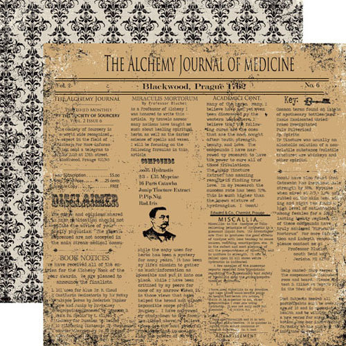 Echo Park - Apothecary Emporium Collection - Halloween - 12 x 12 Double Sided Paper - Alchemy Press
