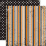 Echo Park - Apothecary Emporium Collection - Halloween - 12 x 12 Double Sided Paper - Striped Toad