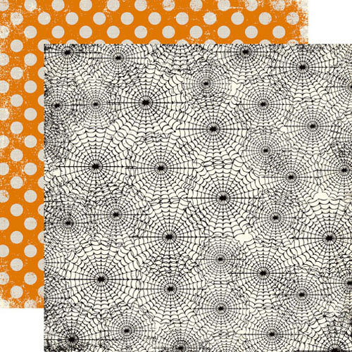 Echo Park - Apothecary Emporium Collection - Halloween - 12 x 12 Double Sided Paper - Spider Webs