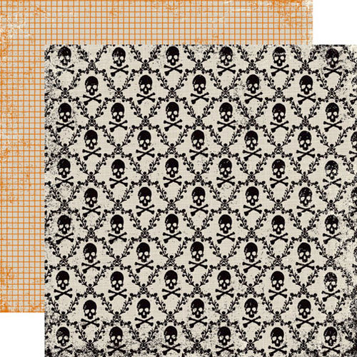 Echo Park - Apothecary Emporium Collection - Halloween - 12 x 12 Double Sided Paper - Skull and Bones