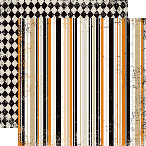 Echo Park - Apothecary Emporium Collection - Halloween - 12 x 12 Double Sided Paper - Hypnotic Stripes