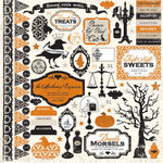 Echo Park - Apothecary Emporium Collection - Halloween - 12 x 12 Cardstock Stickers - Elements