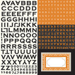 Echo Park - Apothecary Emporium Collection - Halloween - 12 x 12 Cardstock Stickers - Alphabet