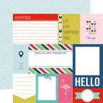 Echo Park - Anything Goes Collection - 12 x 12 Double Sided Paper - Journaling Cards