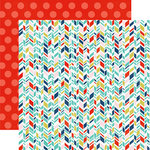 Echo Park - Anything Goes Collection - 12 x 12 Double Sided Paper - Arrow Stripes