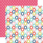 Echo Park - Anything Goes Collection - 12 x 12 Double Sided Paper - Happy Hexagons