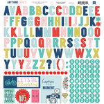 Echo Park - Anything Goes Collection - 12 x 12 Cardstock Stickers - Alphabet