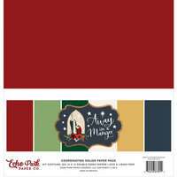 Echo Park - Christmas - Away In A Manger Collection - 12 x 12 Solids Paper Pack