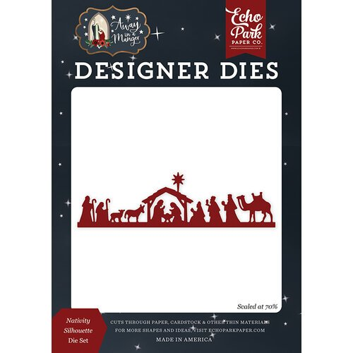 Echo Park - Christmas - Away In A Manger Collection - Designer Dies - Nativity Silhouette