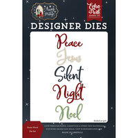 Echo Park - Christmas - Away In A Manger Collection - Designer Dies - Peace Word