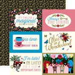Echo Park - Alice in Wonderland Collection - 12 x 12 Double Sided Paper - 4 x 6 Journaling Cards