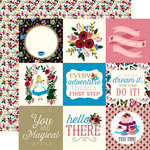 Echo Park - Alice in Wonderland Collection - 12 x 12 Double Sided Paper - 4 x 4 Journaling Cards