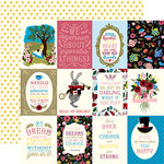Echo Park - Alice in Wonderland Collection - 12 x 12 Double Sided Paper - 3 x 4 Journaling Cards