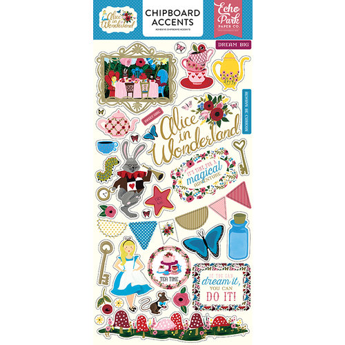 Echo Park - Alice in Wonderland Collection - Chipboard Stickers - Accents