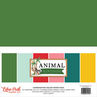 Echo Park - Animal Kingdom Collection - 12 x 12 Paper Pack - Solids