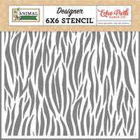 Echo Park - Animal Kingdom Collection - 6 x 6 Stencils - Zebra
