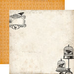 Echo Park - Arsenic and Lace Collection - 12 x 12 Double Sided Paper - Crow and Skull