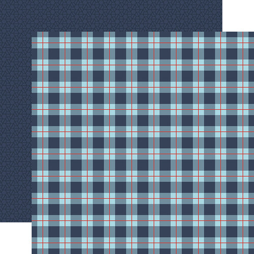 Echo Park - All Boy Collection - 12 x 12 Double Sided Paper - All Boy Plaid