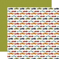 Echo Park - All Boy Collection - 12 x 12 Double Sided Paper - Race Car Lanes