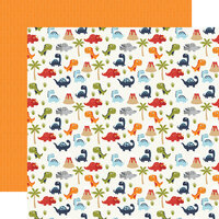 Echo Park - All Boy Collection - 12 x 12 Double Sided Paper - Dino-Mite