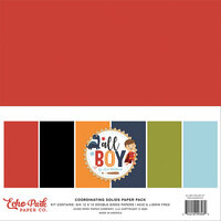 Echo Park - All Boy Collection - 12 x 12 Solids Paper Pack