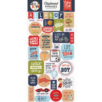Echo Park - All Boy Collection - Chipboard Stickers - Phrases