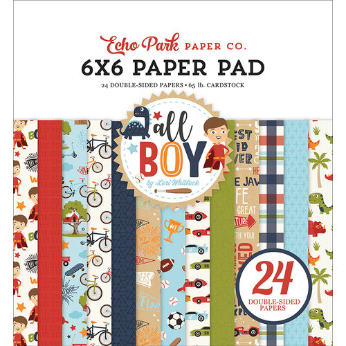 Echo Park - All Boy Collection - 6 x 6 Paper Pad